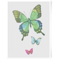 Pocket Butterflies Art Print - A3 - Butterflies Gifts