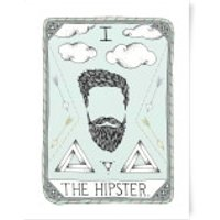 The Hipster Art Print - A3 - Hipster Gifts