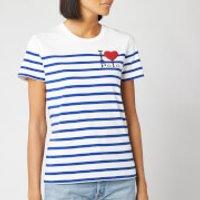 Polo Ralph Lauren Women's Heart Logo T-Shirt - White/Sistine Blue - L - White