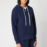 Polo Ralph Lauren Women's Hooded Zip Sweatshirt - Cruise Navy - L - Blue