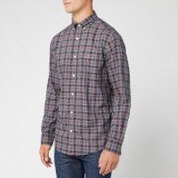GANT Men's Oxford Check Long Sleeve Shirt - Marine - M - Blue
