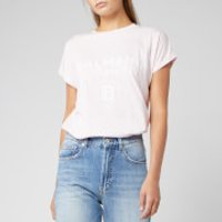 Balmain Women's Flocked Logo T-Shirt - Rose - L