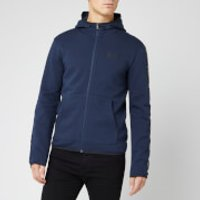 Emporio Armani EA7 Men's Full Zip Hoodie with Taping - Navy - S - Blue