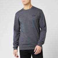 Emporio Armani EA7 Men's Small Logo Crew Neck Sweatshirt - Dark Grey - L - Grey