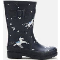 Joules Kids' Printed Wellies - Navy Unicorns - UK 8 Kids