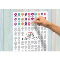 100 Day Random Acts of Kindness Scratch Poster - Random Gifts