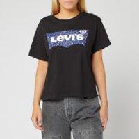 Levi's Women's Graphic Varsity T-Shirt - Hsmk Leopard Fill Meteorite - XS