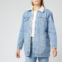 Levi's Women's New Lenghen Shearling Trucker Jacket - Clean Break Trucker - M