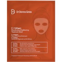 Dr Dennis Gross Skincare C+Collagen Biocellulose Brightening Treatment Mask (1 Application)
