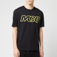 McQ Alexander McQueen Men's Dropped Shoulder McQ T-Shirt - Darkest Black - XXL - Black
