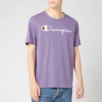 Champion Men's Big Script Crew Neck T-Shirt - Purple - L