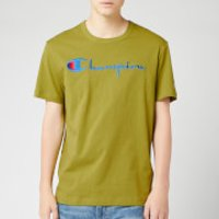 Champion Men's Big Script Crew Neck T-Shirt - Green - M
