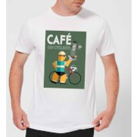Mark Fairhurst Cafe Du Cycliste Men's T-Shirt - White - L - White