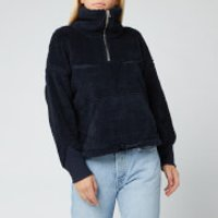 Levi's Women's Made and Crafted Sherpa Track Popover - Navy Peony - S
