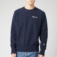 Champion Men's Small Script Sweatshirt - Navy - S