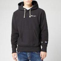 Champion Men's Small Script Hooded Sweatshirt - Black - S