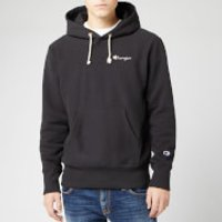 Champion Men's Small Script Hooded Sweatshirt - Black - S