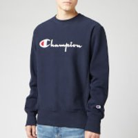Champion Men's Big Script Sweatshirt - Navy - S