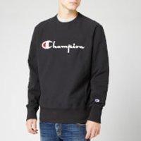 Champion Men's Big Script Sweatshirt - Black - M