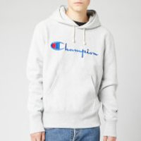 Champion Men's Big Script Hooded Sweatshirt - Grey Marl - XL