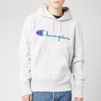 Champion Men's Big Script Hooded Sweatshirt - Grey Marl - XL