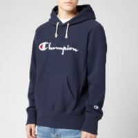 Champion Men's Big Script Hooded Sweatshirt - Navy - L