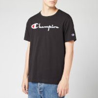 Champion Men's Big Script Crew Neck T-Shirt - Black - M