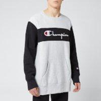 Champion Men's Colour Block Crew Sweatshirt - Grey - XL