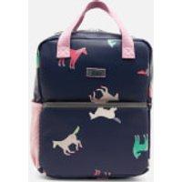 Joules Girls' Adventure Mini Rubber Backpack - Navy Horses