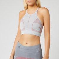 adidas by Stella McCartney Women's PK Bra - Clear Onix/Blush Mauve - S