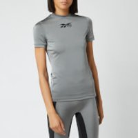 Reebok X Victoria Beckham Women's Performance Short Sleeve T-Shirt - Silver/Black - M