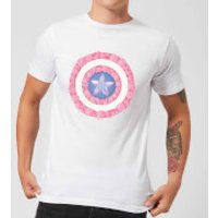 Marvel Captain America Flower Shield Men's T-Shirt - White - XS - White