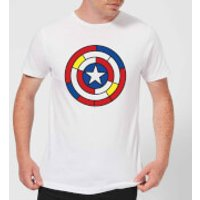 Marvel Captain America Stained Glass Shield Men's T-Shirt - White - XS - White