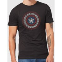 Marvel Captain America Oriental Shield Men's T-Shirt - Black - L - Black