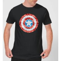 Marvel Captain America Pixelated Shield Men's T-Shirt - Black - XS - Black