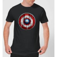 Marvel Captain America Wooden Shield Men's T-Shirt - Black - XS - Black