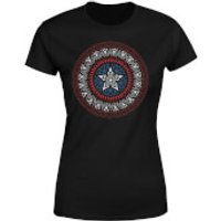 Marvel Captain America Oriental Shield Women's T-Shirt - Black - S - Black
