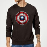 Marvel Captain America Wooden Shield Sweatshirt - Black - S - Black
