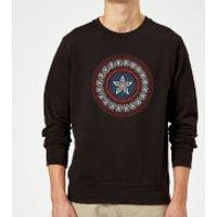 Marvel  Captain America Oriental Shield Sweatshirt - Black - 5XL - Black - Oriental Gifts