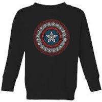 Marvel  Captain America Oriental Shield Kids' Sweatshirt - Black - 11-12 Years - Black - Oriental Gifts
