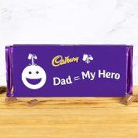 Dad = My Hero - Cadbury Dairy Milk Bar - 360g - 360g - Smiley