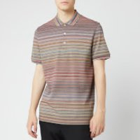 Missoni Men's Short Sleeve All Over Stripe Polo Shirt - Multi - S