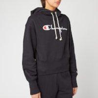 Champion Women's Big Script Hooded Sweatshirt - Black - M