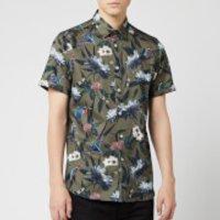 Ted Baker Men's Johnn Patterned Shirt - Khaki - XXL/6