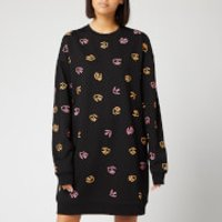 McQ Alexander McQueen Women's Slouchy Sweat Dress - Darkest Black - L