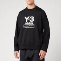 Y-3 Men's Stacked Logo Crew Neck Sweatshirt - Black - M