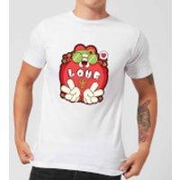 Hippie Love Cartoon Men's T-Shirt - White - XXL - White