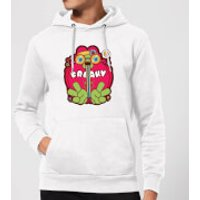 Hippie Psychedelic Cartoon Hoodie - White - XXL - White - Hippie Gifts