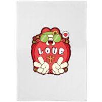 Hippie Love Cartoon Cotton Tea Towel - Hippie Gifts