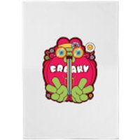 Hippie Psychedelic Cartoon Cotton Tea Towel - Hippie Gifts